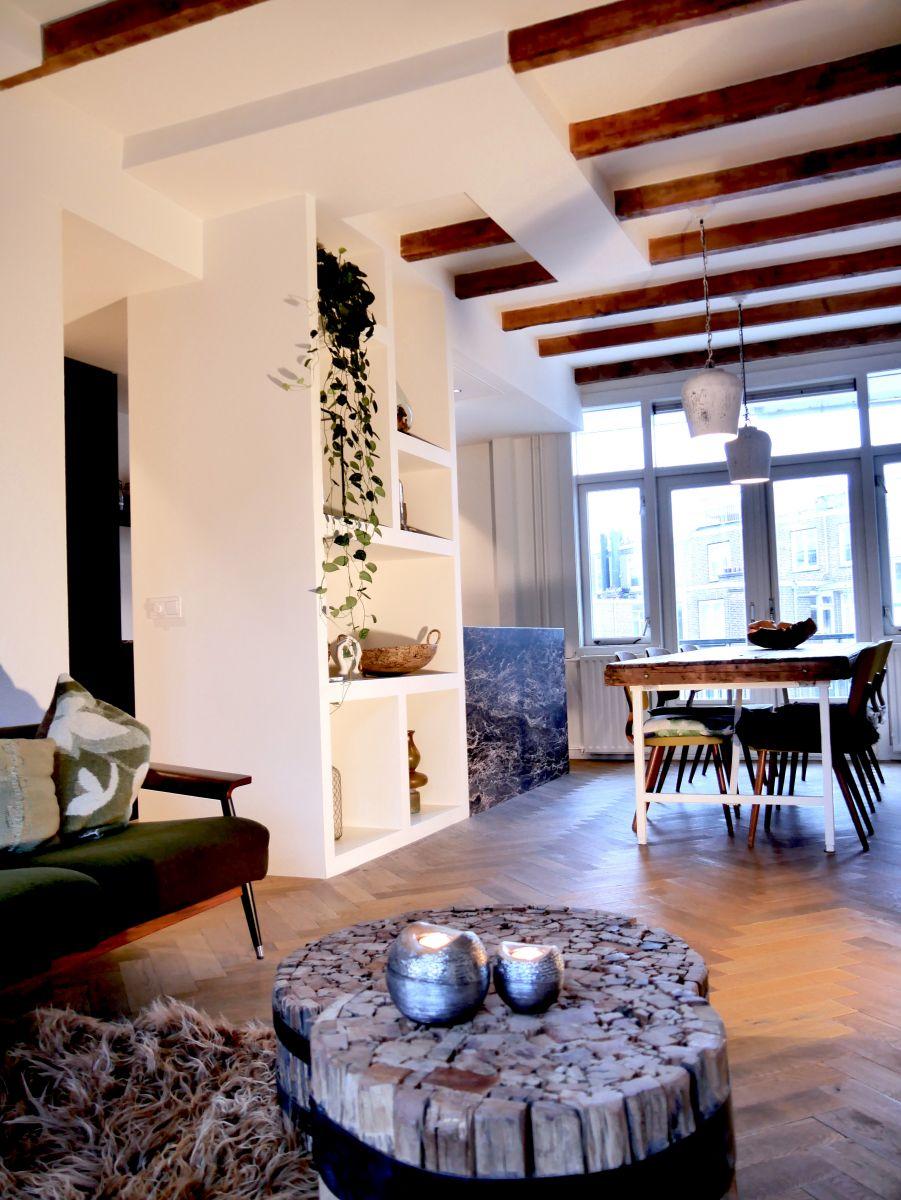 Woning Amsterdam voorzien van sausklaar stucwerk