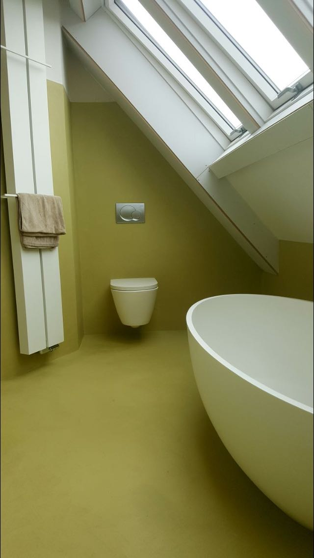 Groene badkamer in Beal Mortex
