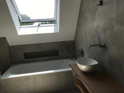 Badkamer in Beton Cire